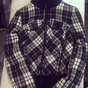 2/$40 Plaid jacket size XS by Guess